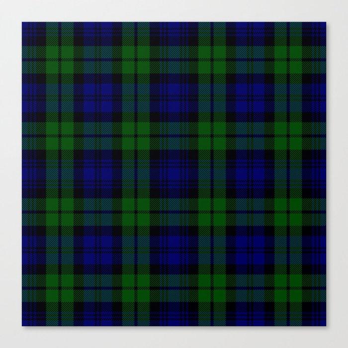 Scottish Campbell Tartan Pattern Black Watch 1 Canvas Print By Sharlesart Society6