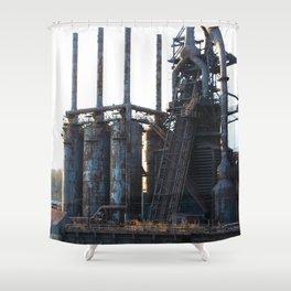Bethlehem Steel Blast Furnaces 9  Shower Curtain