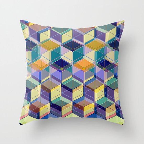 Cube Geometric VIII Throw Pillow