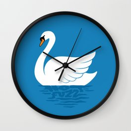 Just The One Swan Actually Wall Clock