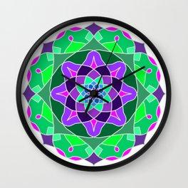 Mandala in nostalgic colors Wall Clock