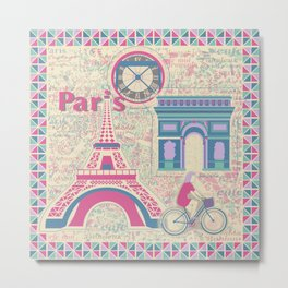 Parisian Holiday Collection Metal Print