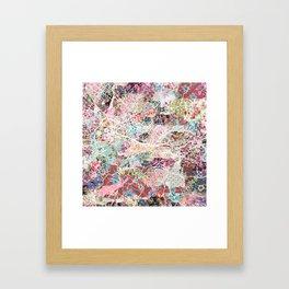 Florence map Framed Art Print