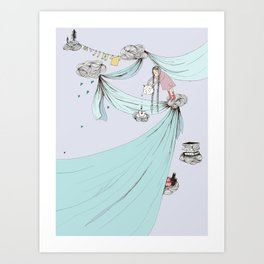 Skyfort - a daydream cloud fort in the sky Art Print
