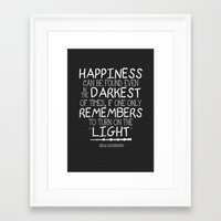 dumbledore Framed Art Prints featuring Dumbleism - Dumbledore Quote 2 by Teacuppiranha