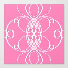 Pink White Swirl Canvas Print