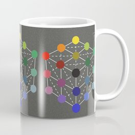Colour cube (black point) from the Manual of the science of colour by W. Benson, 1871, Remake Coffee Mug