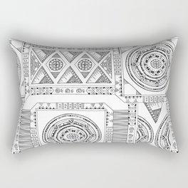 Artline design black and white Rectangular Pillow