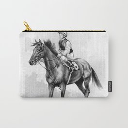 About To Play Up - Racehorse Carry-All Pouch