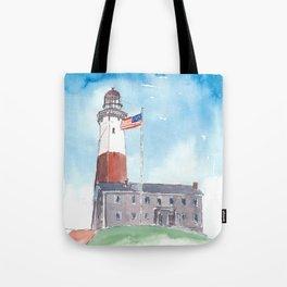 Montauk Lighthouse Long Island New York Tote Bag