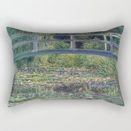 Water Lilies and the Japanese Bridge by Claude Monet Rectangular Pillow