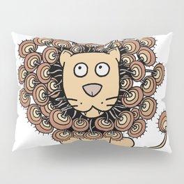A Lion's Mane yellow Pillow Sham