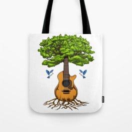 Acoustic Guitar Tree Of Life Tote Bag
