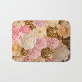 Paper Flowers x Gold Pink Cream Bath Mat