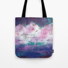 Pink Mountains Tote Bag
