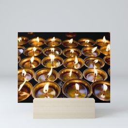 Tibetan Buddhist Oil Butter Lamps Mini Art Print