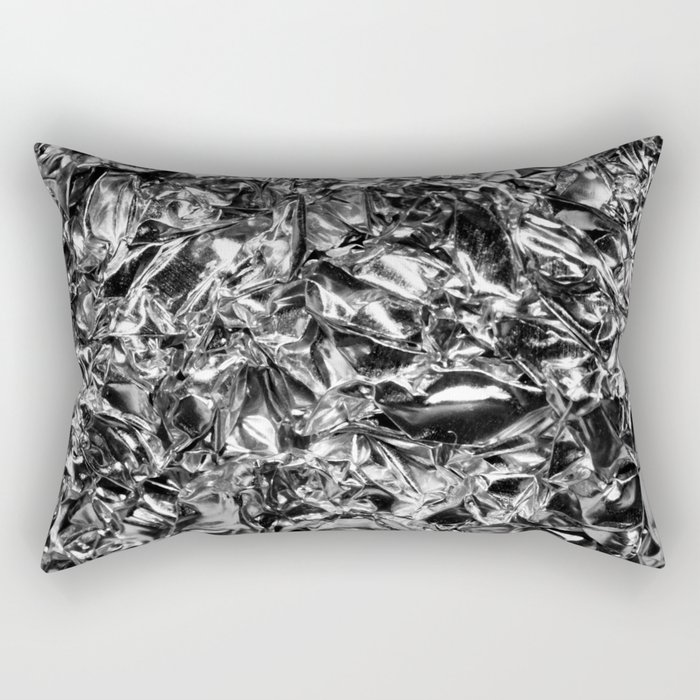 Striking Silver Rectangular Pillow