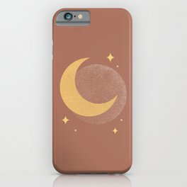 Moon Sparkle Gold - Celestial iPhone Case