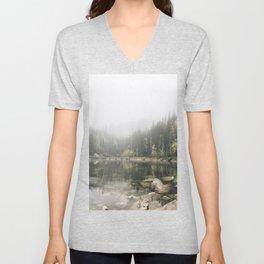 Pale lake - landscape photography Unisex V-Neck