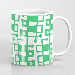 Mid Century Modern Abstract 213 Green Coffee Mug
