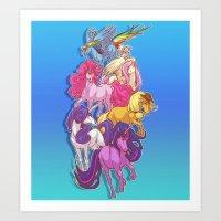 mlp Art Prints featuring MLP... esque by Sempaiko