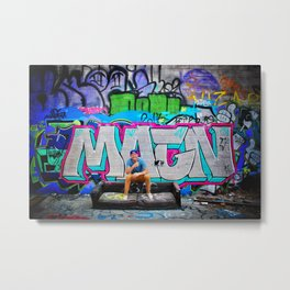 Graffiti Couch Metal Print
