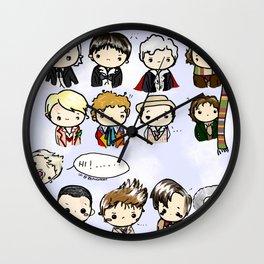Kawaii Doctors (1 to 12 and War) Doctor Who Wall Clock