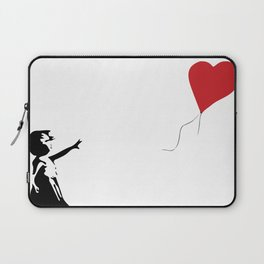 Banksy Girl with Heart Balloon Laptop Sleeve