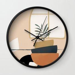 Plant in a Pot Wall Clock