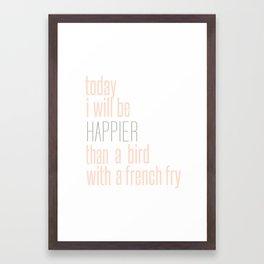 french fry Framed Art Print