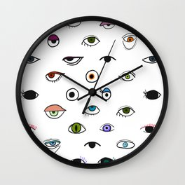 Eyes Wall Clock
