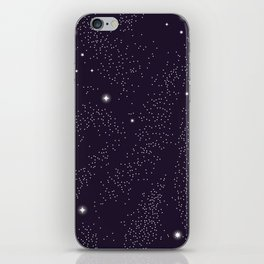 Universe with planets and stars seamless pattern, cosmos starry night sky 005 iPhone Skin