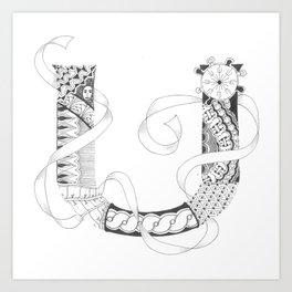 """Zenletter """"U"""" Art Print"""