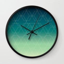 Hex Blue Wall Clock