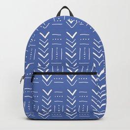 Geometric on dark blue ground Backpack