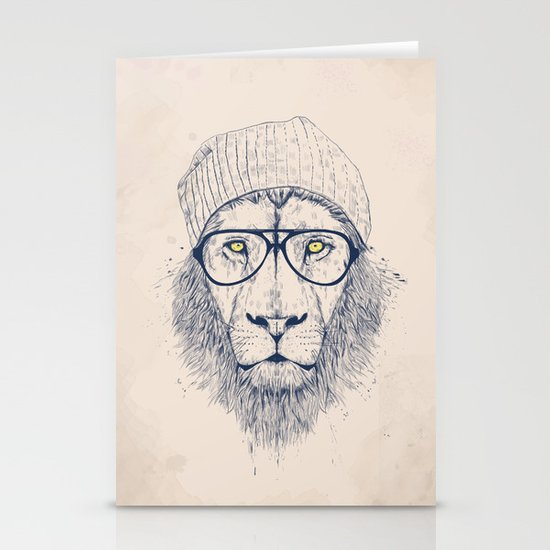 Cool lion Stationery Cards