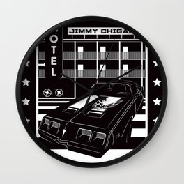 PONTIAC FIREBIRD by JIMMY CHIGAN Wall Clock