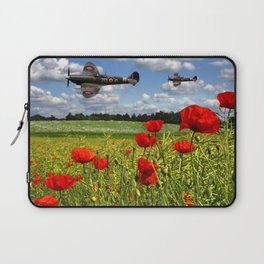 Spitfires and Poppy field Laptop Sleeve