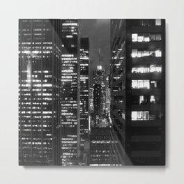 NEW YORK LIGHTS Metal Print