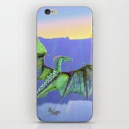 Green Crystal Water Dragon iPhone Skin