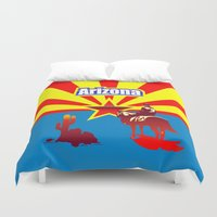 arizona Duvet Covers featuring Arizona by Anfelmo