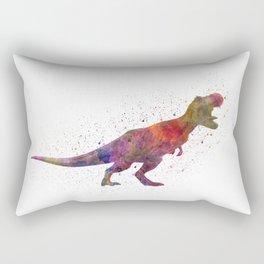 Tyrannosaurus rex dinosaur in watercolor Rectangular Pillow