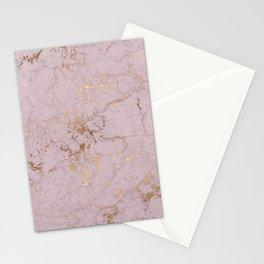Chic mauve pink gold elegant stylish marble Stationery Cards