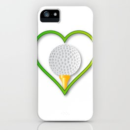 Love Golf iPhone Case