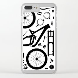 Downhill Bike Parts Clear iPhone Case