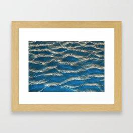 Aqua - blue abstract Framed Art Print