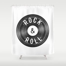 Rock & Roll Shower Curtain