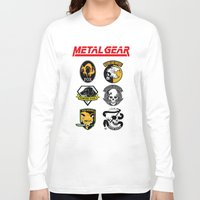 metal gear Long Sleeve T-shirts featuring Metal Gear by Khaled