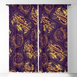 Ouija halloween board Blackout Curtain