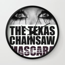 The Texas Chainsaw Mascara Wall Clock